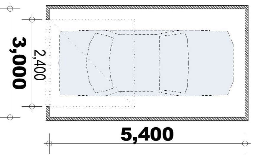 Australian Minimum Garage size and dimensions