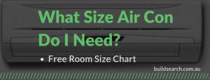 Air conditioner size chart guide