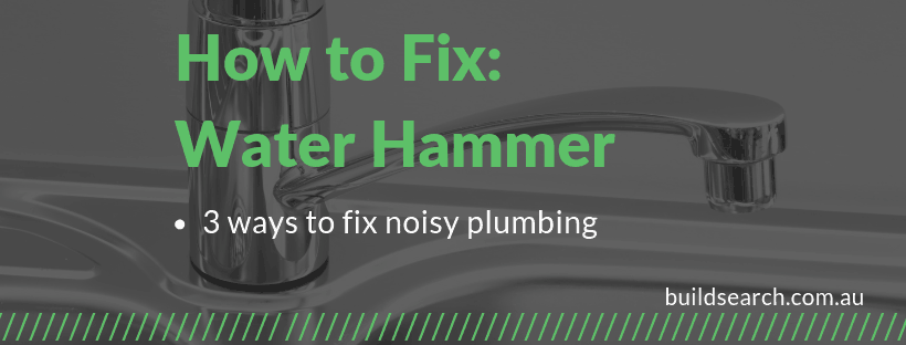 how to Stop water hammer