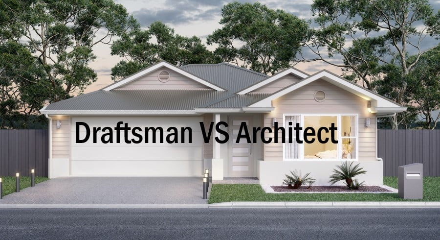 Difference between architect and a draftsman