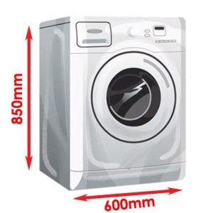 Size of a washing machine