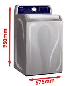 top load washing machine size
