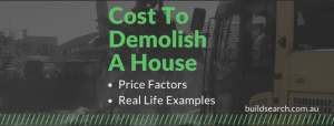 how much does it cost to demolish a house in australia